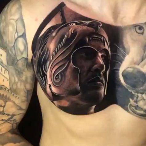 Black & Grey Realism Chest Tattoo #realismtattoo #blackandgreytattoo #skingiants #tattooist #tattoolove #tattooed #tattoosleeve #tattoodesign #tattoolover #tattooworld #tattoosofinstagram #tattoolovers #tattoochest #inked #tat #tats