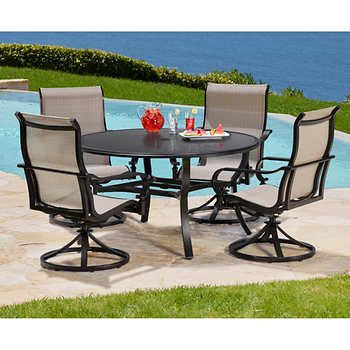 Whitehall 5 Piece Sling Dining Set