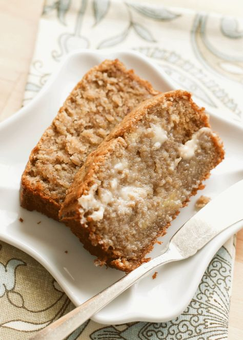 Sour Cream Banana Bread - traditional and gluten free recipes by Barefeet In The Kitchen