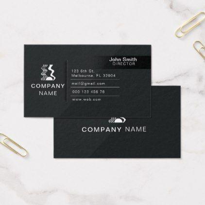 Modern elegant black corporate business card colourmoves