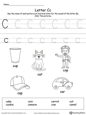 Letter C Beginning Sound Flipbook Printable | Printable worksheets ...