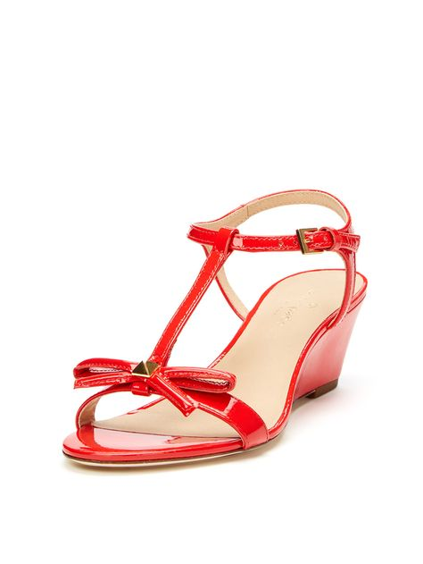 955be201c6aa Donna T-Strap Bow Wedge Sandal from kate spade new york Shoes on Gilt