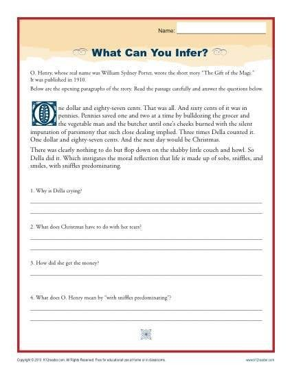 Inference Worksheets Middle School Reading Worksheets, Reading  Comprehension Worksheets, Inference