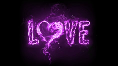 Purple Love Fire Black Wallpaper HD Desktop Background #38292122 Wallpaper