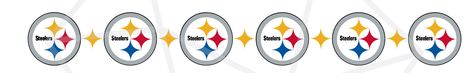 Pittsburgh Steelers SVG PNG bundle/ Black and Yellow football/ Repeat pattern cricut silhouette clipart