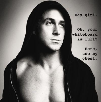 Hey girl ~ use my chest (Thanks, Ryan!)