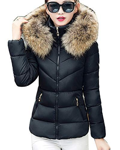 Pandapang Girls Comfortable Padded Quilted Zip Hooded Down Jacket Parka Coat