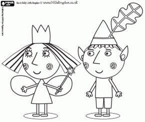 Colorear Ben Y Holly El Duende Y La Princesa Hada Ben And Holly