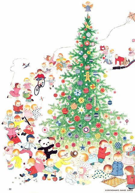 Gyo Fujikawa Christmas illus. from Family Circle magazine