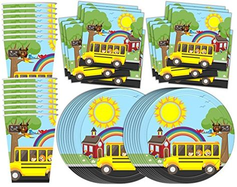 Train Birthday Party Supplies Set Plates Napkins Cups Tableware Kit for 16 Birthday Galore