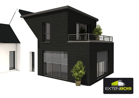18 best extension images on Pinterest Extensions, Full sew in and - extension maison bois 20m2