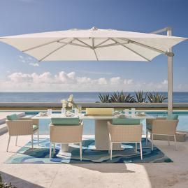10 Cantilever Square Side Mount Umbrella Patio Umbrellas Patio Modern Outdoor Furniture