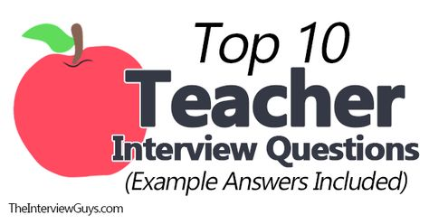Top 10 Teacher Interview Questions [Example Answers Included