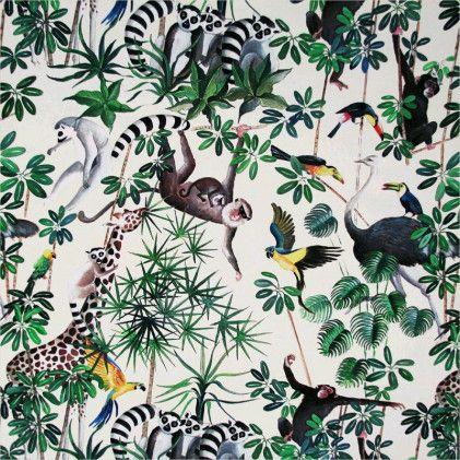 tissu imprime thevenon la jungle des