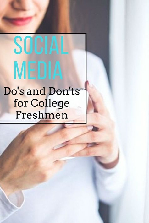 College Professor in the Technology and Society Department offers advice about social media to college freshman.