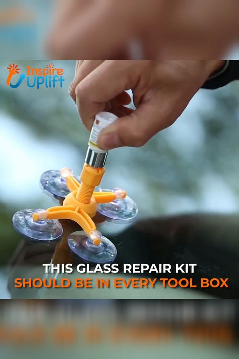 This Cracked Glass Repair Kit allows anyone to repair glass damages including bulls-eye, cracks, spider web, star damages safely, easily and inexpensively, before those imperfections enlarge. Kit includes everything needed to create a quality repair. Single-ingredient filler simplifies the application process by eliminating the need to mix or heat materials. Because the ingredients match the optical qualities of glass, they create a clear repair.  Currently 50% OFF with FREE Shipping!