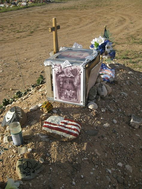 Grave Marker- Dennis Hopper, American actor and director, Hoppers funeral took place on June 2010 at San Francisco de Asis Mission Church in Ranchos de Taos, New Mexico. He was buried in Jesus Nazareno Cemetery, Ranchos de Taos.