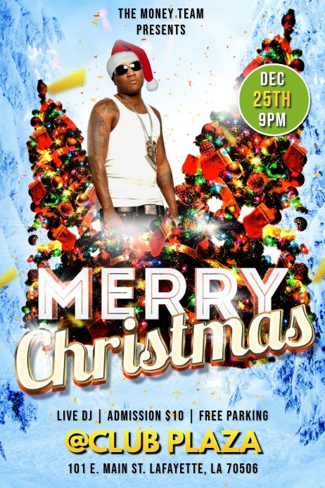 Merry Christmas Party Club Flyer Template Christmas Party Poster Christmas Party Club Flyers
