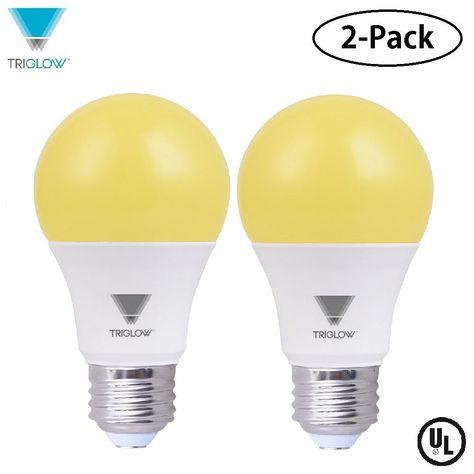 40 Watt Equivalent Yellow A19 Led Bug Light Bulb 2 Pack Light