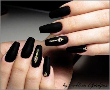 28 Ideas Nails Prom Black Matte