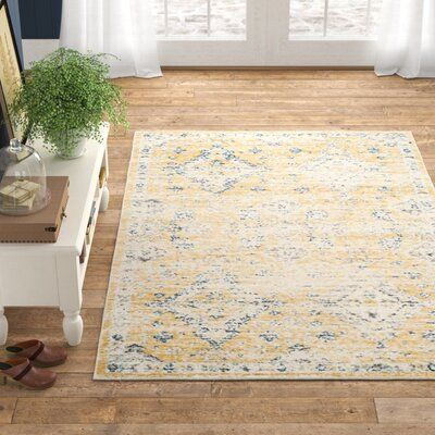 Bungalow Rose Ameesha Floral Gold Ivory Area Rug Rug Size Rectangle 10 X 14 In 2020 Purple Area Rugs Area Rugs Rugs