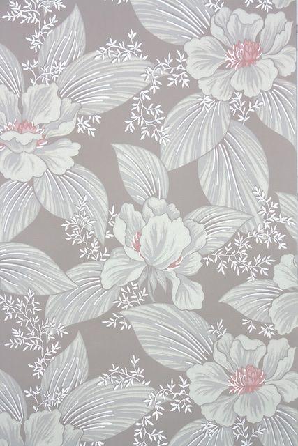 1950s Floral Vintage Wallpaper Vintage Floral Wallpapers Floral Watercolor Background Abstract Floral Art