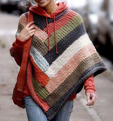 Hand Knit Women poncho XS,S,M,L,XL,XXL Wool Hand Knit cape,palantine,bolero f18 #Handmade #Poncho