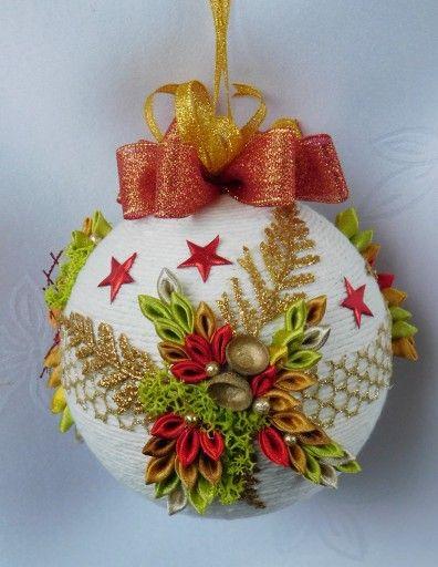 Bombka Sznurkowa Na Choinke Prezent Rekodzielo 8684478248 Oficjalne Archiwum Allegro Christmas Ornaments Christmas Bulbs Crafts