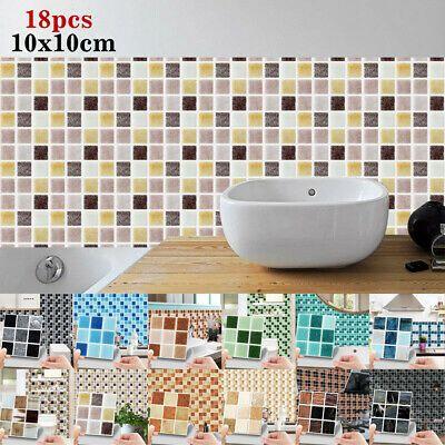 Wall Tile Sticker 1010cm 18pcs Mosaic Wall Sticker Home Decor Quality Decals Stickers Vinyl Art Eba In 2020 Wall Stickers Home Wall Stickers Home Decor Wall Tiles