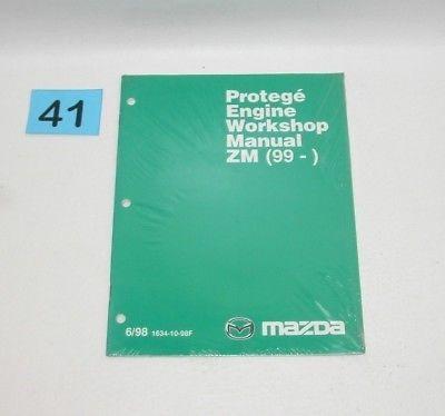 Details About Mazda Protege Factory Engine Workshop Manual Zm 99 Printed June 98 41 In 2020 Mazda Protege Workshop Engineering