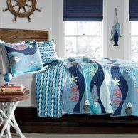Better Homes And Gardens Kids Sealife Bedding Comforter Set Walmart Com Quilt Sets Bedding Lush Decor Quilt Sets Blue