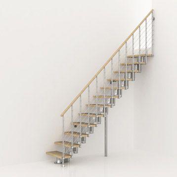 Escalier En Bois Et Metal Longline Pixima Haut Sol A Sol 2 M 25 A 3 M 03 A 2200 Au Lieu De 2589 Chez Leroy Merlin Escalier Interieur Escalier Bois Escaliers Interieur Et Porte Coulissante