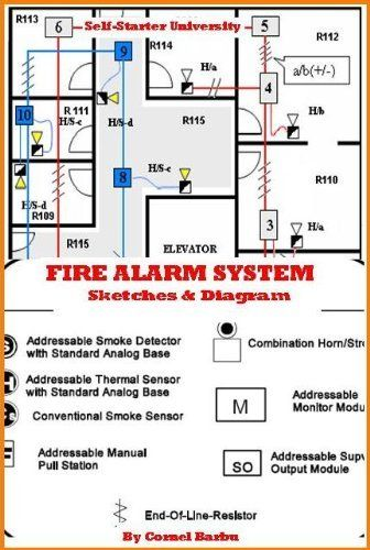 Electrician S Book Fire Alarm System Sketches Diagrams Self Starter University By Cornel Barbu 4 75 Fire Alarm System Alarm System Kindle