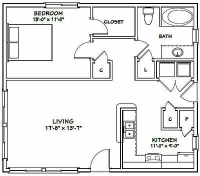 30x26 House 1 Bedroom 1 Bath 780 Sq Ft Pdf Floor Plan Model 1 Floor Plans Granny Pods Floor Plans How To Plan