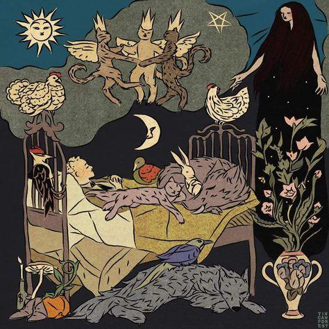 Tin Can Forest - Canadian painter Lawren Harris falling asleep - ZH>IN illustration - Kunst Dark Art, Aesthetic Art, Prints, Art, Art Inspiration, Psychedelic Art, Illustration Art, Cool Art, Drawings