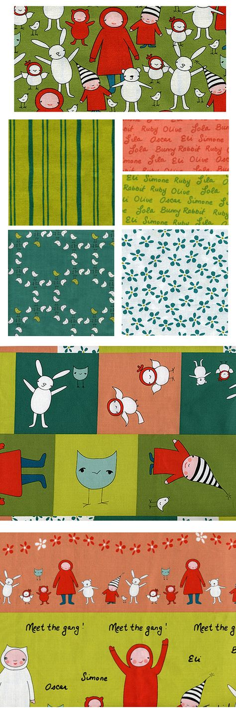 Meet the Gang fabric collection by Marisa Haedike/Creative Thursday now available at CityCraft