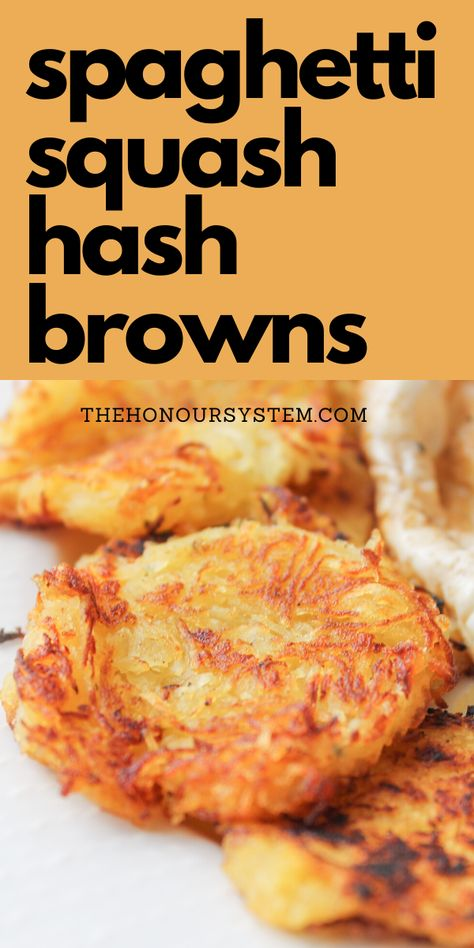 These Spaghetti Squash Hash Browns are a brilliant way to use up your leftover cooked spaghetti squash. A super easy low carb, low calorie recipe that is both gluten free and paleo. No Calorie Foods, Low Calorie Recipes, Diet Recipes, Vegetarian Recipes, Cooking Recipes, Healthy Recipes, Healthy Low Calorie Meals, Paleo Ideas, Recipies