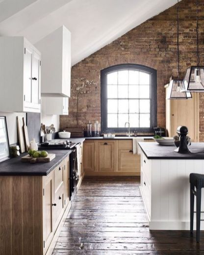 41 Amazing Kitchens Design Ideas With A Brick Wall Best Kitchen Designs Cool Kitchens Kitchen Design