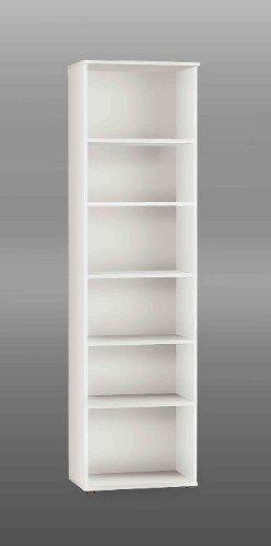 wholesale dealer 8675e e3a27 Tall Narrow White Bookcase/ Wooden Bookcase/ Book Shelves ...