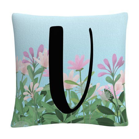 Pink Flower Garden Letter Illustration U By Abc 16 Floral Garden Ideas Floral Throw Pillows Decorative Throw Pillows Throw Pillows