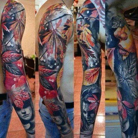 Discover an expressive new platform with the top 70 best colorful tattoos for men. Explore artistic design ideas and body art with aesthetic appeal.