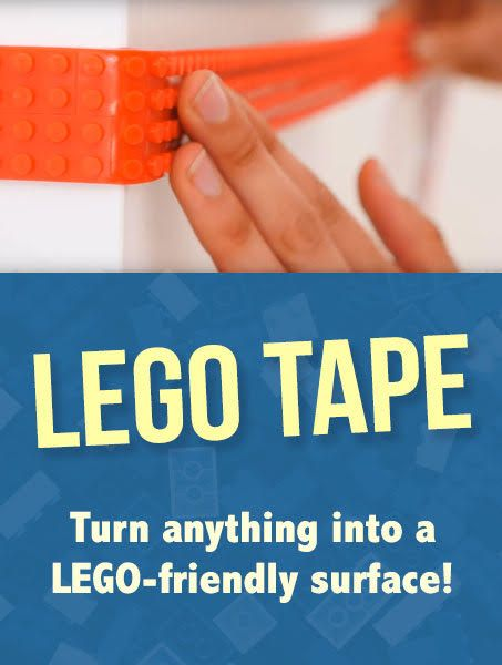 LEGO tape, where was this when my son was younger? This is so cool ...