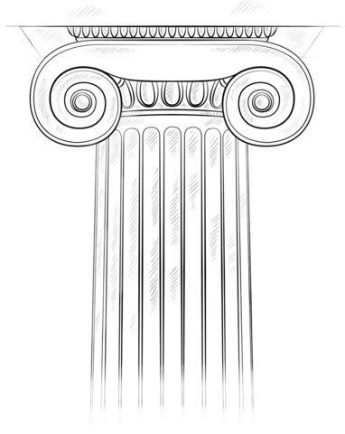 Columnas Romanas Para Colorear Ionic Column Drawing Tutorial Architecture Drawing