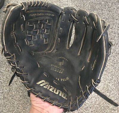 Mizuno Mz122 Professional Model Black Baseball Glove 12 0 In 2020 Baseball Glove Vintage Baseball Gloves Mizuno
