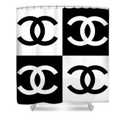 Chanel Design 5 Shower Curtain Curtains For Sale Chanel Decor