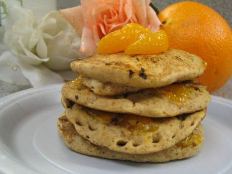 Quick & Easy Mandarin Orange Pancakes for One. Photo by brokenburner