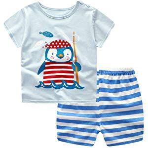 2Pcs Bébé Garçons Été à manches courtes T-shirt short KIDS Summer Casual Outfits Set