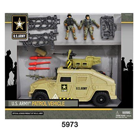 Kids Baby Action Figure Rotating Gun Scale Military Armored Humvee Vehicle Toy