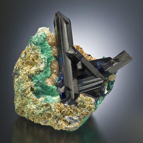 Azurite & Malachite -- Tsumeb, Namibia