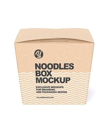 Download Kraft Noodles Box Mockup Present Your Design On This Mockup Includes Special Layers And Smart Objects For Your Creat Box Mockup Creative Words Packaging Design
